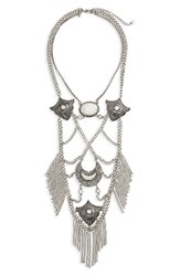 Topshop Women's Layered Statement Necklace Silver