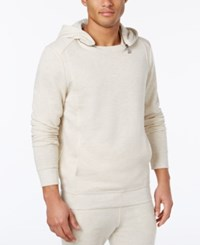 Guess Men's Ls Lux Brushed Terry Sweater Sandy Stone Heather