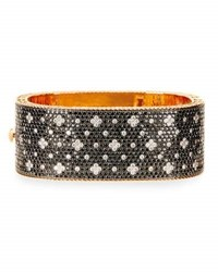 Roberto Coin 18K Rose Gold Black And White Diamond Bangle