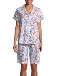 Karen Neuburger Two Piece Floral Short Sleeve Pajama Set
