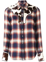 Dsquared2 Checked Button Down Shirt Blue
