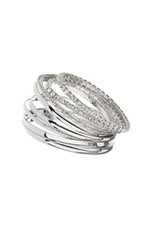 Topshop Rhinestone Bangle Pack Clear