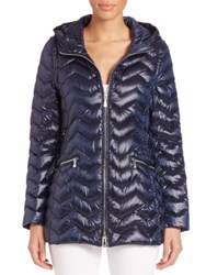 Dawn Levy Cleo Long Quilted Puffer Jacket Abyss Alabaster