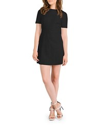 Kendall Kylie Leather Shift Dress Black