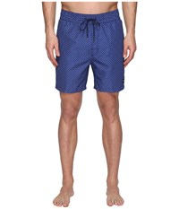 Jack Spade Mosaic Tile Swim Trunk Dark Navy
