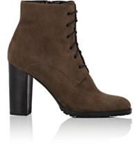 Barneys New York Women's Lug Sole Suede Ankle Boots Grey