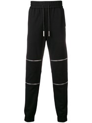Philipp Plein Zipped Track Pants Black