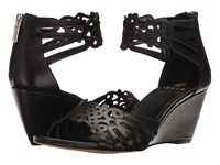 Isola Felicity Black Women's Wedge Shoes