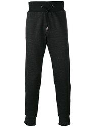 Versace Contrast Band Track Trousers Black