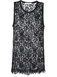 Iro Sheer Lace Tank Top Black