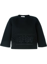 Red Valentino Flower Cut Out Sweatshirt Black