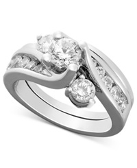 Macy's Certified Diamond Bridal Set Ring In 14K White Gold 1 1 2 Ct. T.W.