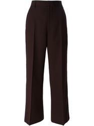 Marc Jacobs Cropped Flared Trousers Brown