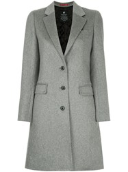 Loveless Single Breasted Coat Nylon Lambs Wool Grey