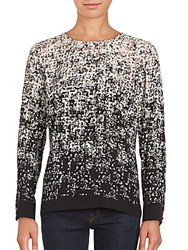 Vince Camuto Shadow Text Top Floral Pink