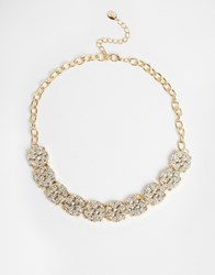 Designsix Aster Textured Necklace Gold