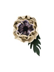 Sonia Rykiel Large Anemone Brooch Nude And Neutrals