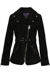 Alexachung Woman Suede Biker Jacket Black
