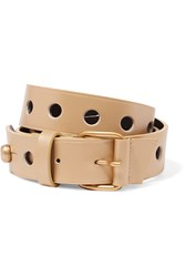 Golden Goose Metallic Leather Belt Brown