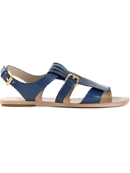 Santoni Fringed Sandals Blue