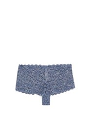 Hanro Moments Floral Lace Briefs Blue