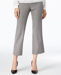 Ny Collection Plaid Knit Straight Leg Cropped Pants