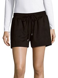 Bagatelle Drawstring Waist Perforated Shorts Beige