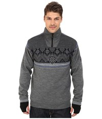 Dale Of Norway Glittertind Masculine Smoke Cobalt Navy Light Charcoal Men's Sweater