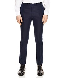 Sandro Notch Tropical Slim Fit Trousers Navy Blue