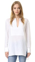 Jenni Kayne Collarless Bib Tunic White