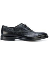 Henderson Baracco Classic Oxford Shoes Calf Leather Leather Black