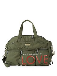 Peace Love World Proud Supporter Of Weekender Duffel Bag Army Green