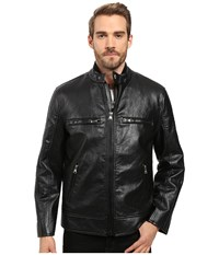 Marc New York Anson Racer Distressed Faux Leather 3 In 1 Jacket With Removable Vest Black Men's Coat