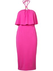 Trina Turk Layered Dress Women Polyamide Polyurethane 2 Pink Purple
