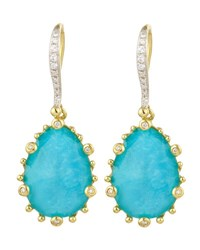 Frederic Sage Tivoli Turquoise And Diamond Earrings