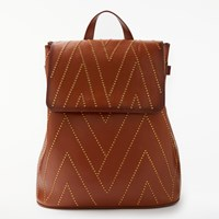 And Or Isabella Leather Stud Backpack Tan