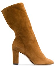 Marc Ellis Slouched Slip On Boots Brown