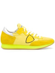 Philippe Model Logo Patch Sneakers Yellow Orange