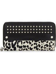 Alexander Mcqueen Leather Studded Wallet White Black