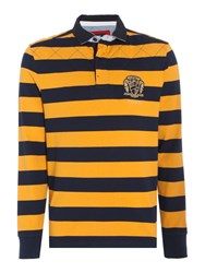 Howick Men's Colenorton Stripe Long Sleeve Rugby Shirt Gold