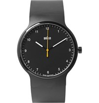Braun Bn0221 Rubber And Stainless Steel Watch Black