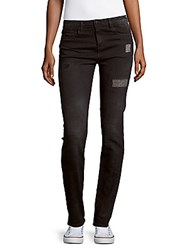 Brockenbow Irina Slim Fit High Waist Patchwork Jeans Black Smith
