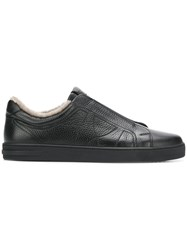 Moreschi Fur Lining Sneakers Black
