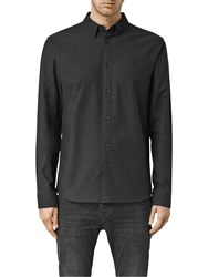 Allsaints Hungtingdon Slim Fit Shirt Black