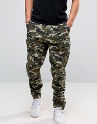 Dxpe Chef Cargo Trousers In Camo With Military Patches Camo Green