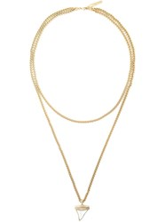 Givenchy 'Shark Tooth' Necklace Metallic