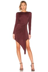 Yfb Clothing Yumi Dress Burgundy