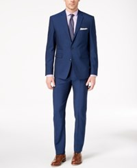 Vince Camuto Men's Slim Fit Stretch Blue Solid Suit