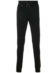 Philipp Plein Orange Line Detail Sweatpants Men Polyamide Spandex Elastane Viscose S Black