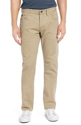 Men's 'Stay Rvca' Slim Straight Pants Khaki